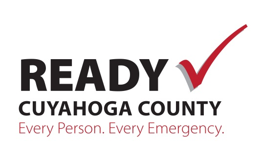 logo that says Ready Cuyahoga County in black with a red check next to it