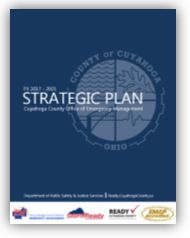 image of a blue rectangle that has the words Strategic Plan in white over it